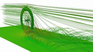 OpenFOAM - Bike wheel with disc brake CFD
