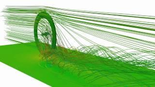OpenFOAM - Bike wheel with disc brake CFD