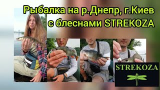 Рыбалка на блесны STREKOZA ловля окуня на Днепре летом в июле ловля судака летом в июне на Днепре