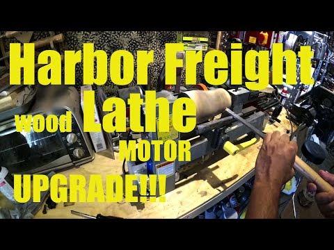 Harbor Freight Wood lathe motor upgrade