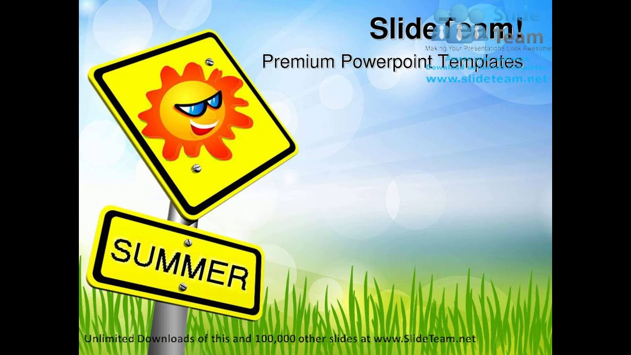 Summer Vactions Holidays Powerpoint Templates Themes And Backgrounds