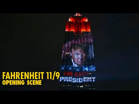 """""""Fahrenheit 11/9"""" opening sequence   Michael Moore"""