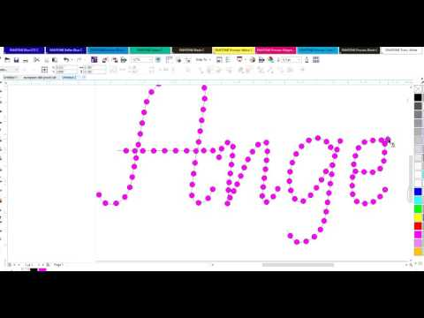 Create RhinestoneTemplates In CorelDraw X7 Part 2 - Single Line Text