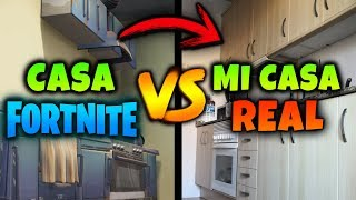 HOUSE in FORTNITE VS MI CASA REAL 😅