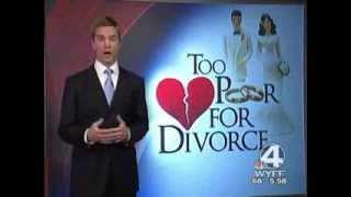 Too Poor for Divorce -- Ben Stevens interviewed on WYFF (Greenville, SC)