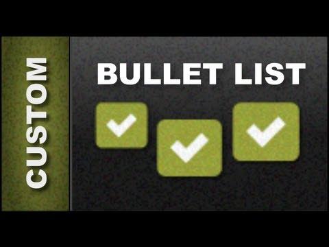 Xara Web Designer Mx Premium 8 Tutorials Custom Bullet