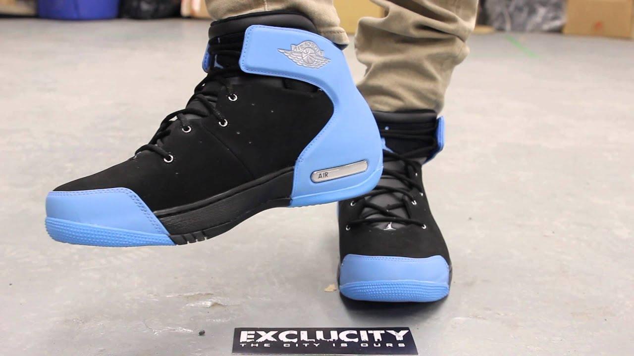 da54c3d65f7 Jordan Melo 1.5 Black - University Blue - On-feet Video at Exclucity ...