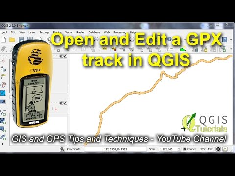 Open and Edit a GPS Track in QGIS