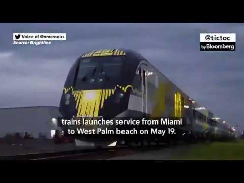 Brightline High-Speed Train Takes on Florida Traffic ...