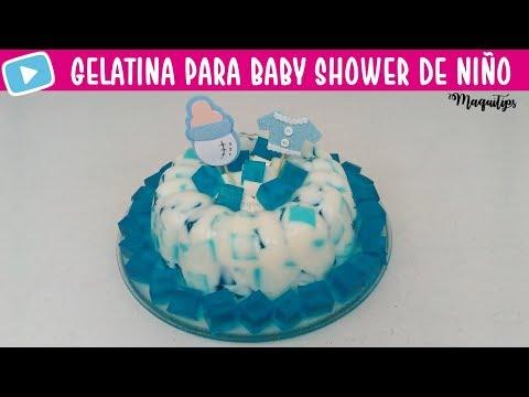 Gelatina para Baby Shower de Ni�o / Gelatina azul para baby shower de ni�o | MaquiTips