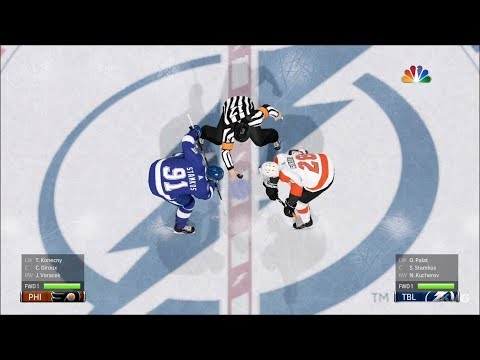 NHL 18 - Tampa Bay Lightning vs Philadelphia Flyers - Gameplay (HD) [1080p60FPS]