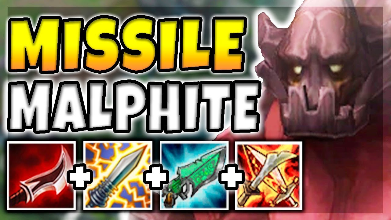 Nuclear Missile Malphite Mid 100 Instant One Shot Carries With Ult