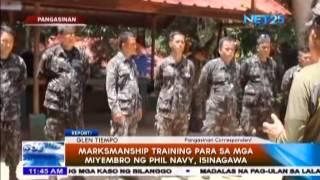 Markmanship Training para sa mga miyembro ng Philippine Navy, isinagawa