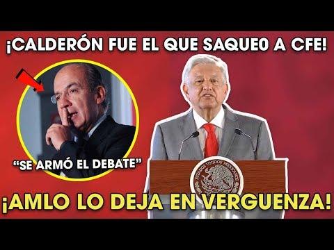 AMLO Se ENCABR0NA con Felipe Calderón por Quebrar a CFE ¡Dijo toda la verdad!