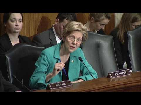 Senator Elizabeth Warren Questions FDA Commissioner Nominee