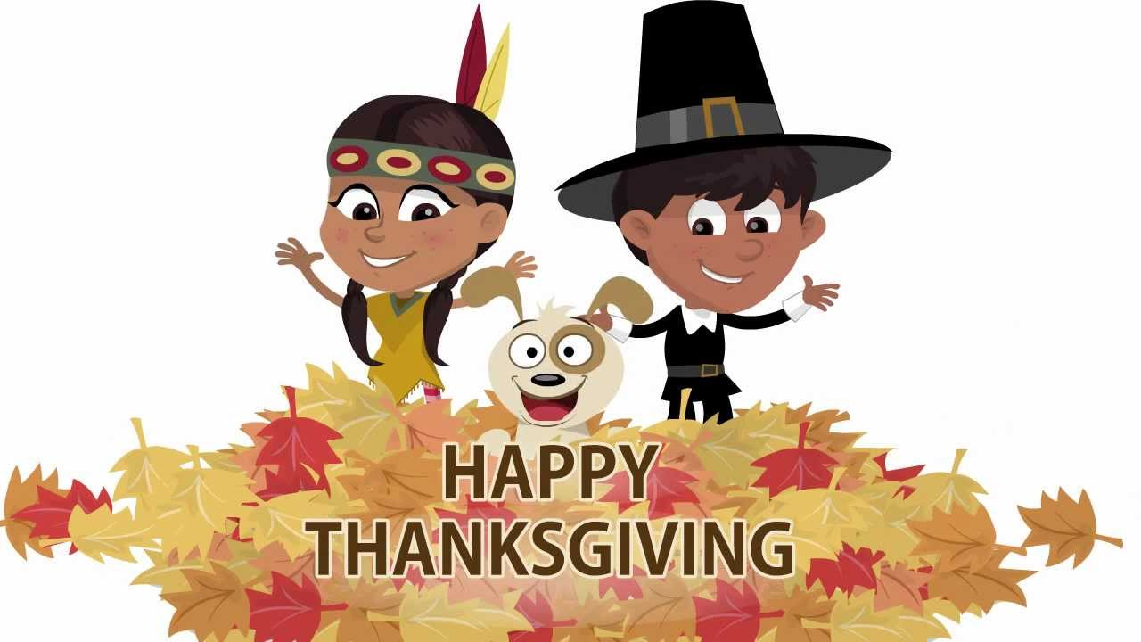 "Funmoods- ""Happy Thanksgiving Kids""- Animated card - YouTube"