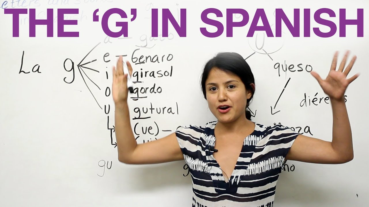 The letter G in Spanish