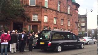 Funeral of Ahmadiyya Muslim Asad Shah held in Glasgow, Scotland