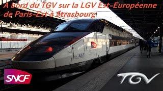 A bord du TGV sur la LGV Est-Européenne de Paris-Est à Strasbourg