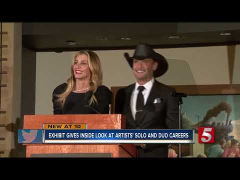 Tim McGraw, Faith Hill Speak At Unveiling Of CMHOF Exhibit