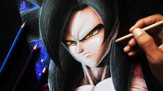 Como dibujar a GOKU Ssj 4 con colores ESCOLARES | Paso a Paso | Dragon Ball GT / Heroes