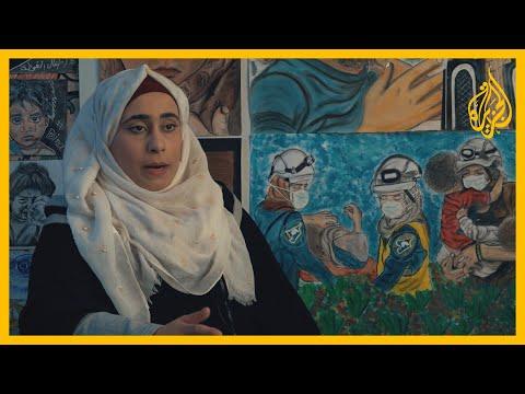 دينا. فنانة سورية سخّرت موهبتها في الرسم على الخيام لتدوين الأحداث بمخيمات النزوح بشمال سوريا  - 15:58-2020 / 8 / 2