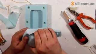 Как сделать прозрачную полую деталь с помощью силиконовой формы