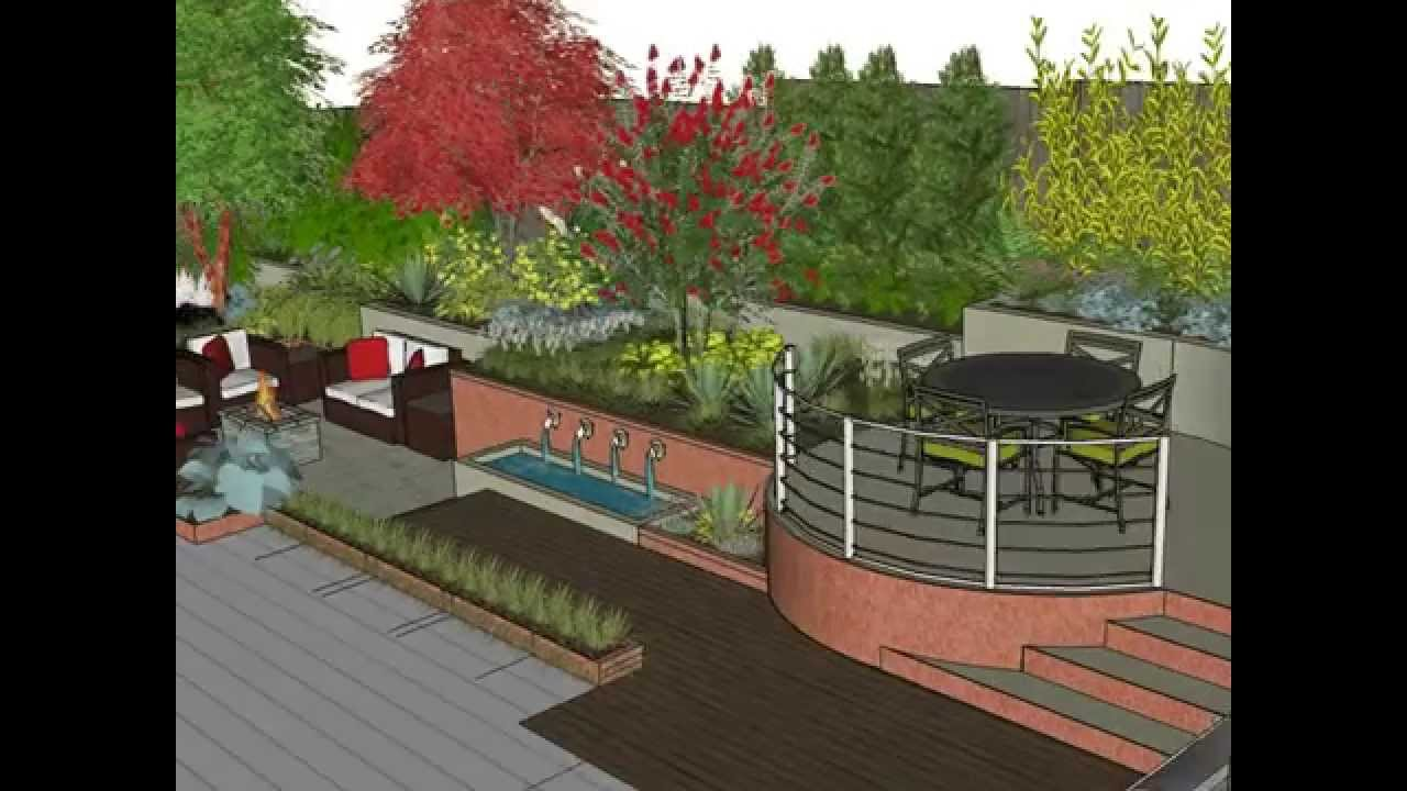 Garden Design SketchUp Animation YouTube