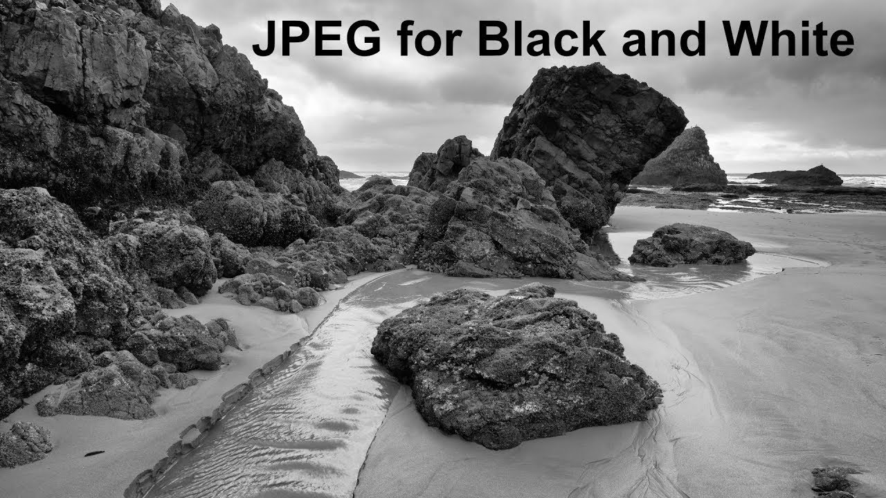 Jepg for black and white seascape photography