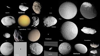 Saturn's Moons as Seen by Cassini