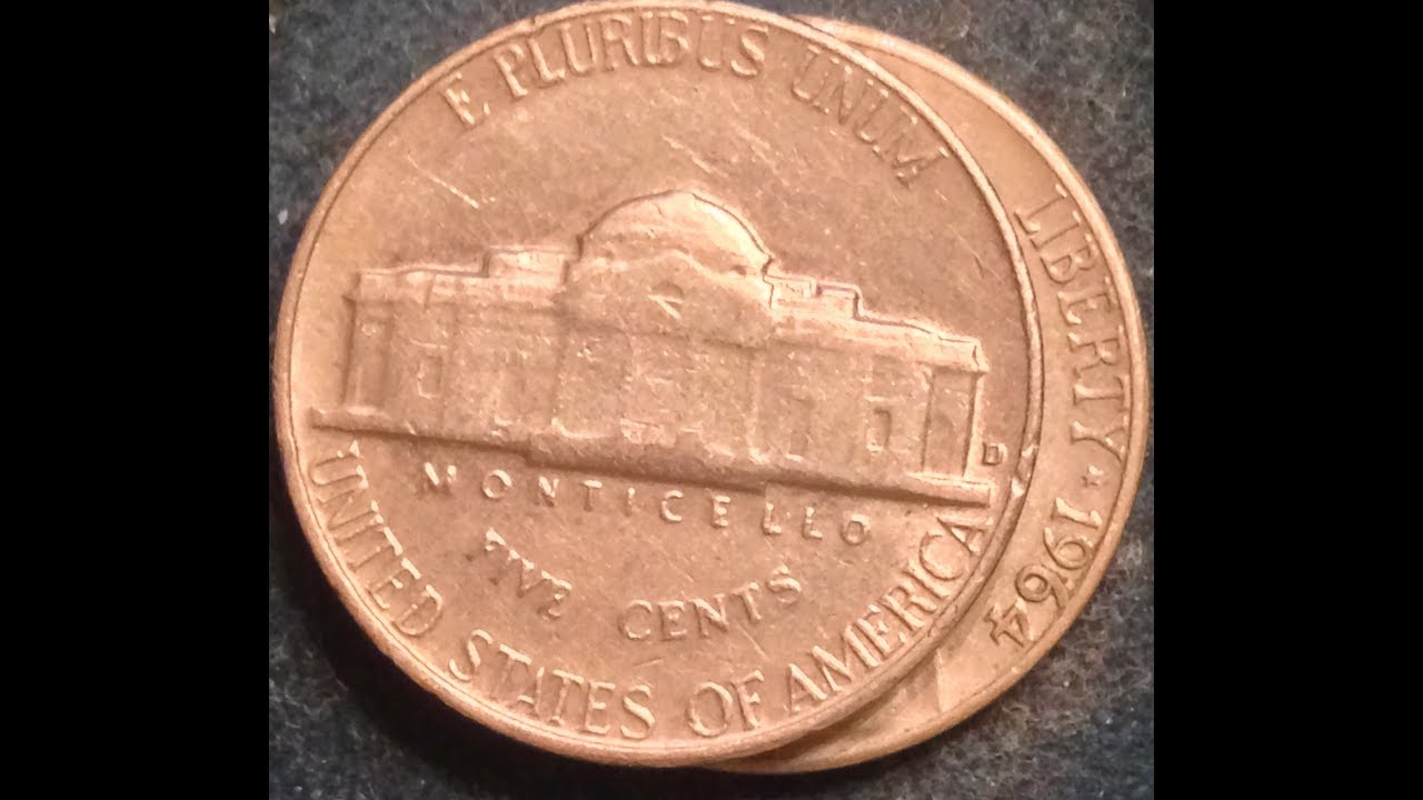 1964 Jefferson Nickel- Known Errors With Repunched Mintmark