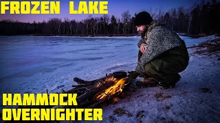 Winter Hammock Camping Alone