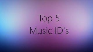 ROBLOX [Top 5 TRAP ID's]