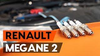 Cómo cambiar Bujía de encendido RENAULT MEGANE II Saloon (LM0/1_) - vídeo gratis en línea