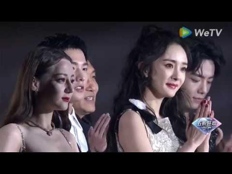 20191228 ปิดงาน+ป๋อจ้านคุยกันกระหนุงหนิงบนเวที TencentVideoAllStarAwards2019