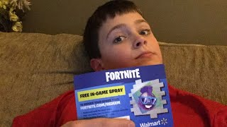 Free Fortnite spray Code first to redeem gets a shout out. Go to my current account at Brenden Aenis