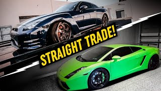 I Traded this WRECKED Nissan GTR for a Lamborghini