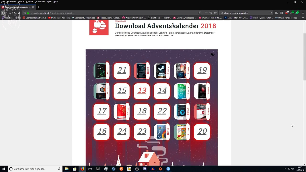 Chip Adventskalender Verklagen