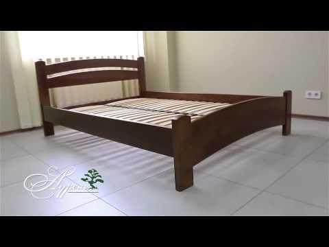 Как собрать двуспальную кровать из бука Аурель Милана люкс смотреть в хорошем качестве