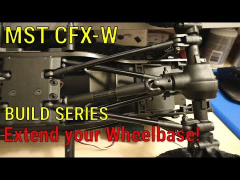 MST CFX-W 310mm Wheelbase Extension using included kit parts.