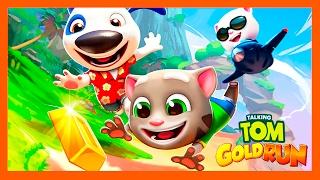 КОТ ТОМ БЕГ ЗА ЗОЛОТОМ #33. ИГРА ГОВОРЯЩИЙ ТОМ ЗА ЗОЛОТОМ АНЖЕЛА И ДРУЗЬЯ  - мультик игра для детей.