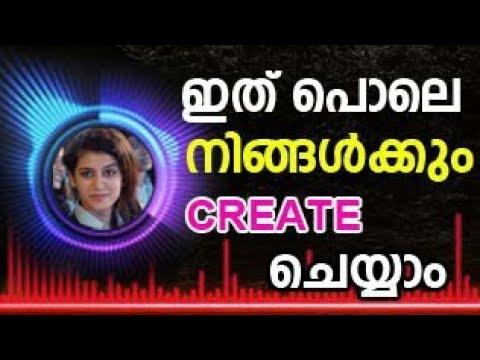 How to create a Audio Spectrum malayalam, bgm music app malayalam