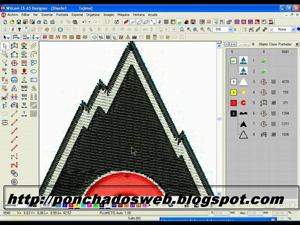 Convertir imágenes en diseños bordados para maquina - YouTube