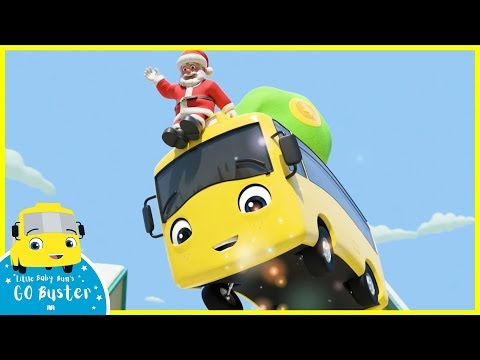 Santa's Broken Sleigh - Christmas For Kids | Go Buster | Baby Cartoons | Kids Videos | ABCs And 123s