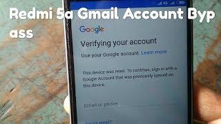 Redmi 5A Google Account Bypass - Bikeriverside