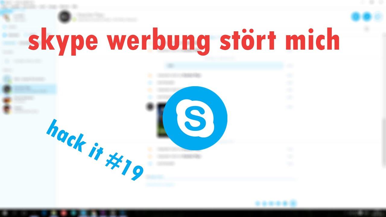 Werbung Bei Skype Entfernen