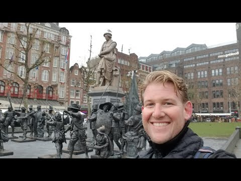 AMSTERDAM - REMBRANDT's House, Canals, and Art Candy! - Daze With Jordan The Lion #485 (12/4/2017)