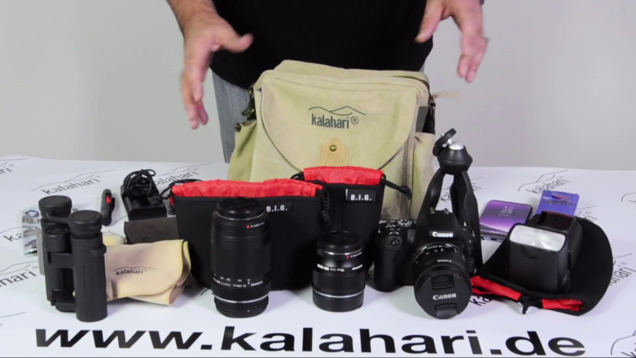 Kalahari Molopo K 41i Canvas Fototasche Multifunktionstasche Youtube