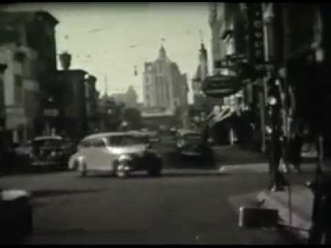 B/W footage of downtown Rockford, IL 1940