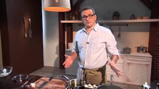 Крем-суп с чипсами из сельдерея